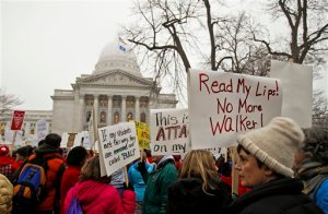 Madison, Wisconsin's union protestors